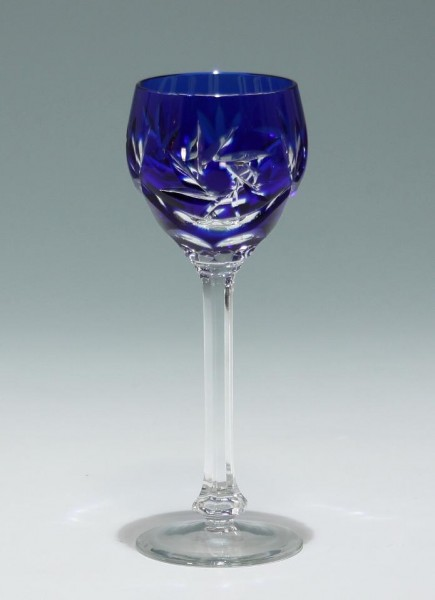 Bleikristall Überfangglas Likörglas - Cobalt