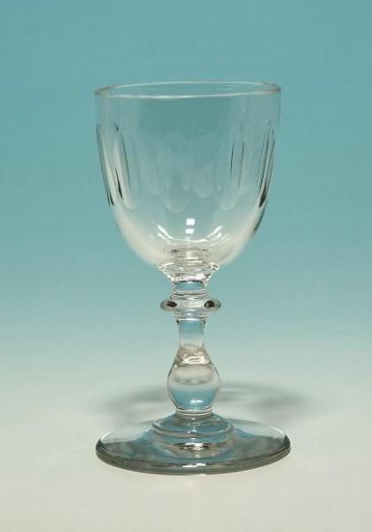 Kelchglas mit Olivenschliff Anfang 20. Jh. 11 cm