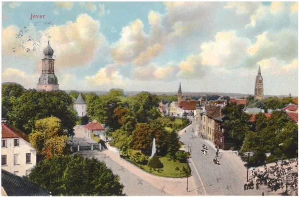 Ansichtskarte JEVER - gelaufen 1912 #ak0005