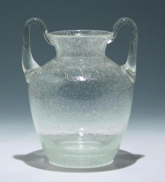 Moderne Schaumglas Henkelvase - Höhe 22,7 cm