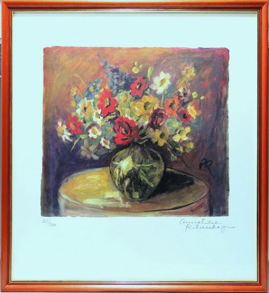Handsignierte Farblithografie Anneliese Rothenberger