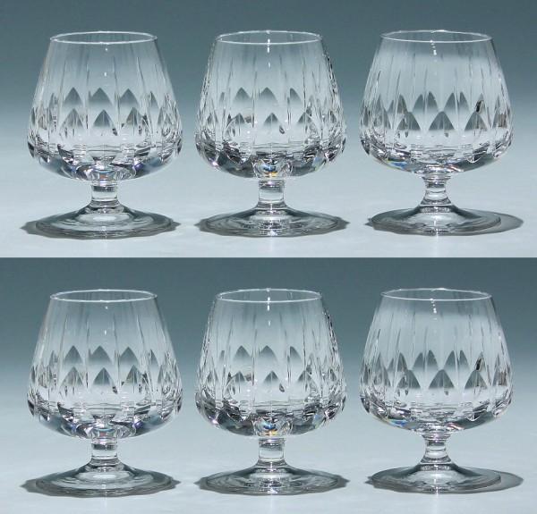 6 Nachtmann Bleikristall Cognacgläser SYLVIA