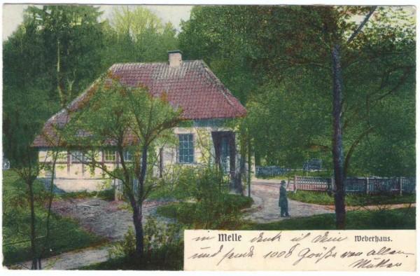 AK - MELLE - Weberhaus - gelaufen 1904 #ak0168