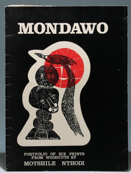 MONDAWO - Portfolio of six (colored) Prints from Woodcuts by Motshile Nthodi *1948