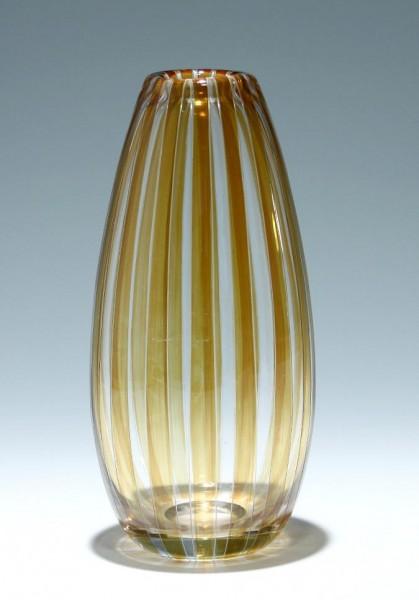 Gravierte und gebeizte Vase Böhmen 1960er Jahre