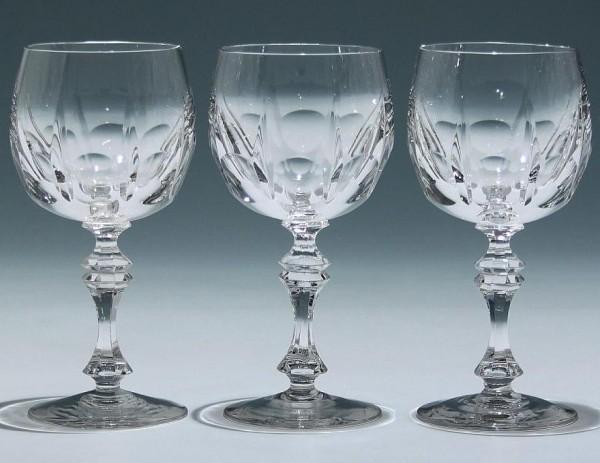 3 Hirschberg Bleikristall Weingläser ähnlich LOCARNO