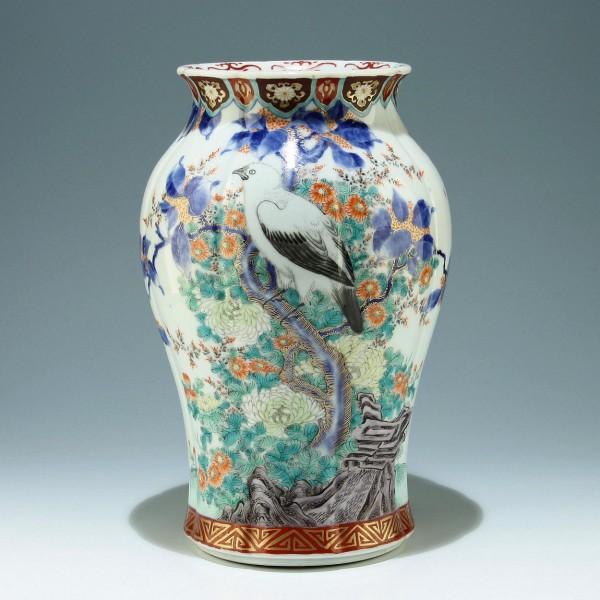 Große handbemalte Imari Vase Japan Anfang 20. Jh. - 31,5 cm