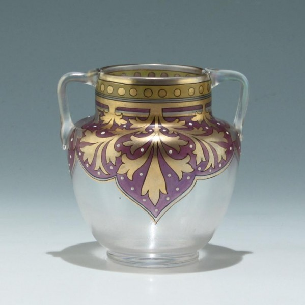 Fritz Heckert CYPERN Vase Dekorentwurf Adolf Heyden 1895