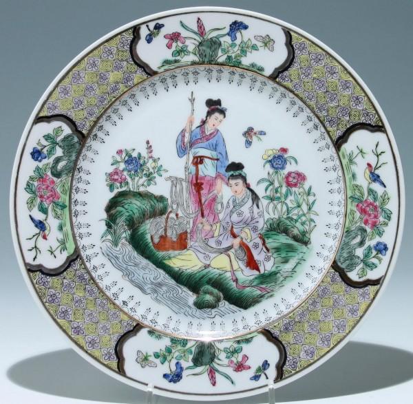 Chinese Famille Verte Porcelain Plate Ø 26,2 cm