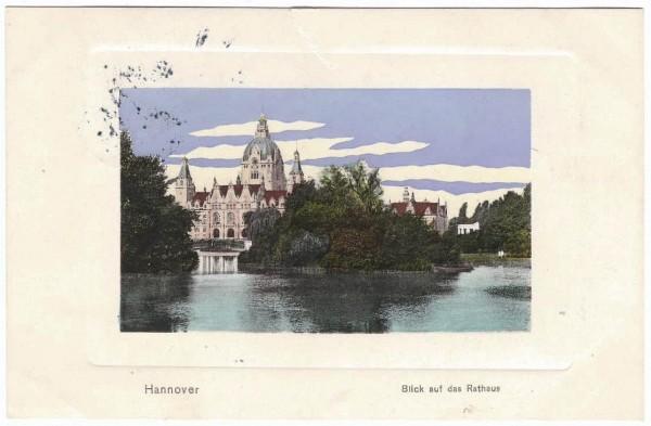 AK - HANNOVER - RATHAUS - gelaufen 1909