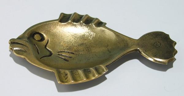 Messing Ascher in Fischform 1950er Jahre