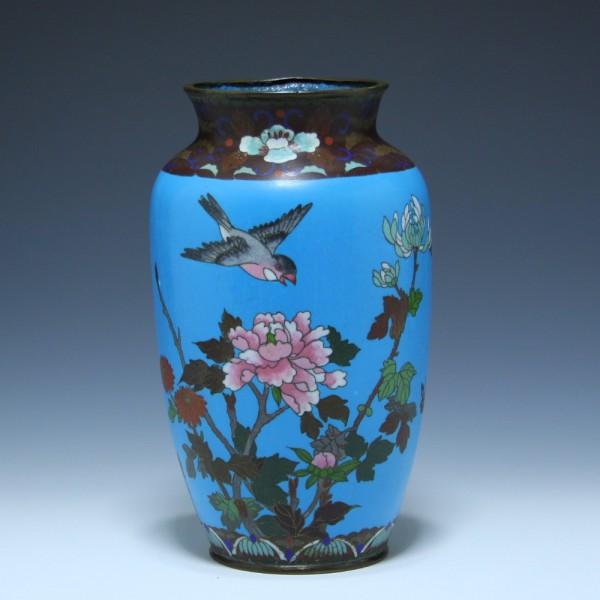 Japanese Cloisonne Meiji Vase - circa 1900 24,6 cm