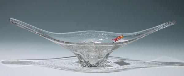 Große Bleikristall Schale CRISTALLERIES DE LA BRESLE - 59,5 cm
