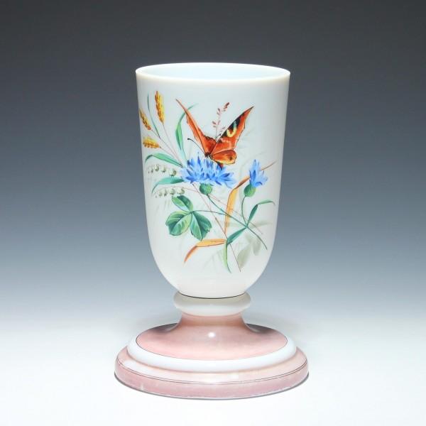 Milchglas Petroleumlampenfuß - circa 1900