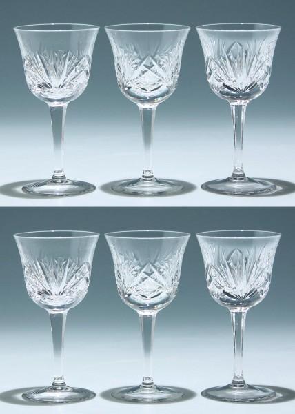 6 Nachtmann Bleikristall Weingläser NIERSTEIN 16 cm