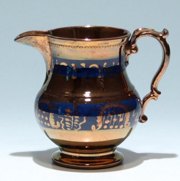 Keramikkanne in Kupferoptik, England um 1920