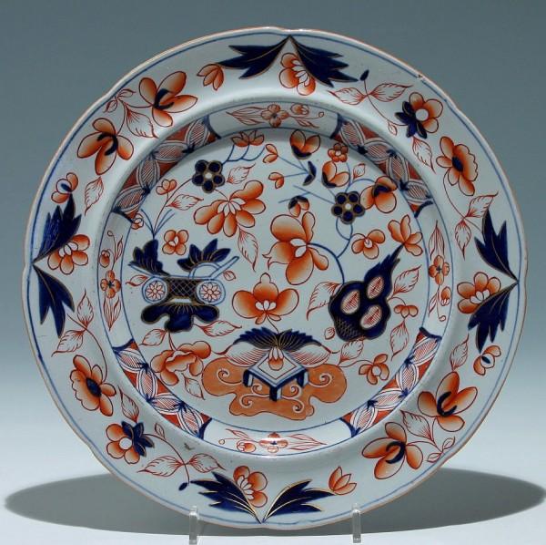 IRONSTONE CHINA Imari Plate - 1st H. 20th. C.