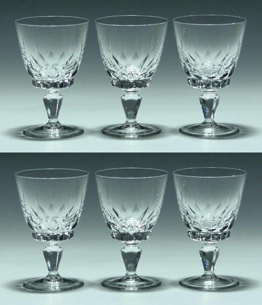 6 Spiegelau Kelchgläser PALERMO 1960er Jahre - 9,9 cm
