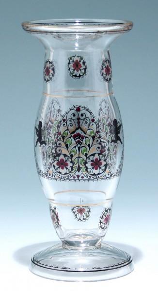 Vase mit Schwarzlotbemalung - Fachschule Haida/Steinschönau um 1915