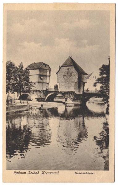 AK RADIUM-SOBALD KREUZNACH, Brückenhäuser - gelaufen 1918 #ak0113