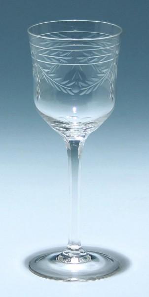 Jugendstilweinglas mit Schliffdekoration um 1910