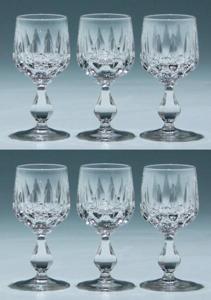 6 Nachtmann Bleikristall Kelchgläser CORA 10,1 cm