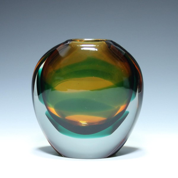 Sommerso Vase Design Luciano Gaspari for Salviati, Murano circa 1960