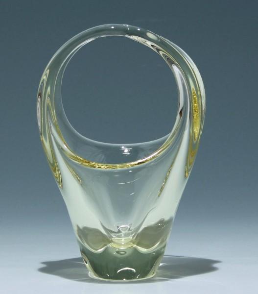 Henkelkorb - ZBS Bohemia Cristal circa 1965