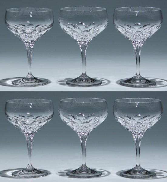 6 Nachtmann Bleikristall Sektschalen DIAMANT