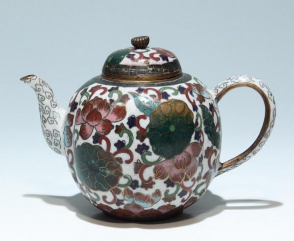 Japanese Cloisonne Teapot - circa 1900 - damages!