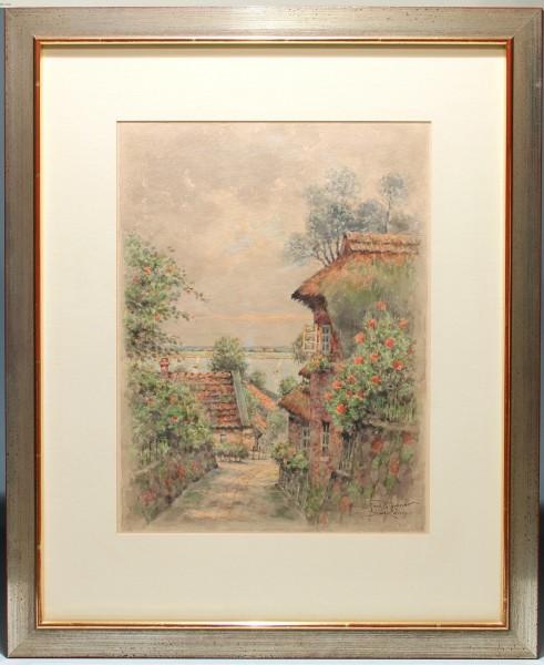 Aquarell BLANKENESE von Ferdinand Höpner (1882-1967)