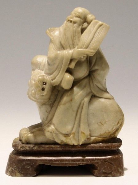 Chinese Soapstone Figure on Tiger