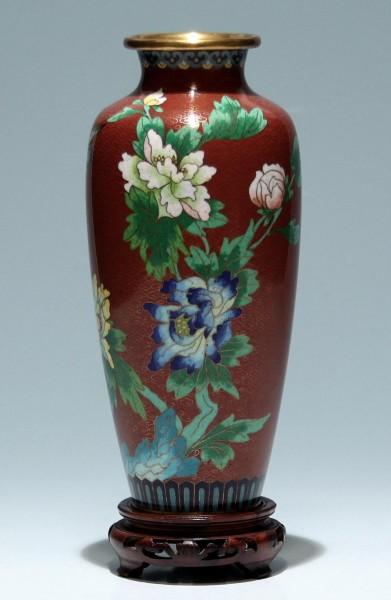 Cloisonné Vase - China 20. Jh. - 22,5 cm