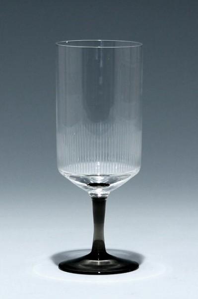 Friedrich Glas Kelchglas mit Liniengravur 1960er Jahre - 13,7