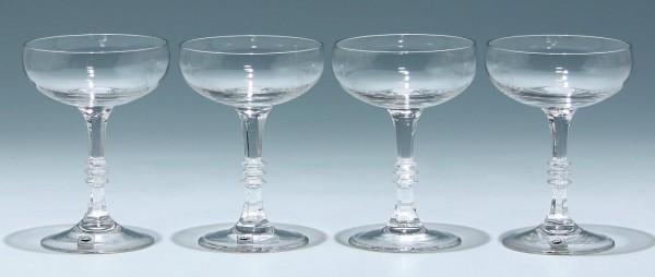 4 Gral-Glas Likörschalen ALEXANDRA