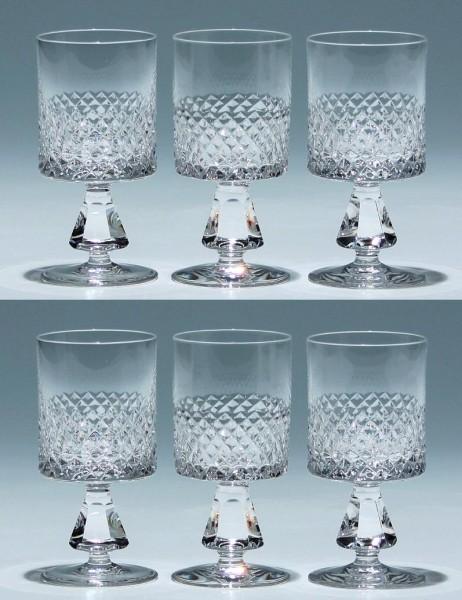 6 Barthmann Bleikristall Kelchgläser - 11 cm