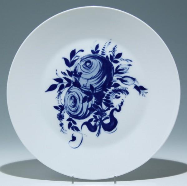 Großer Rosenthal Teller BLAUE ROSE studio-linie - Ø 32,8 cm