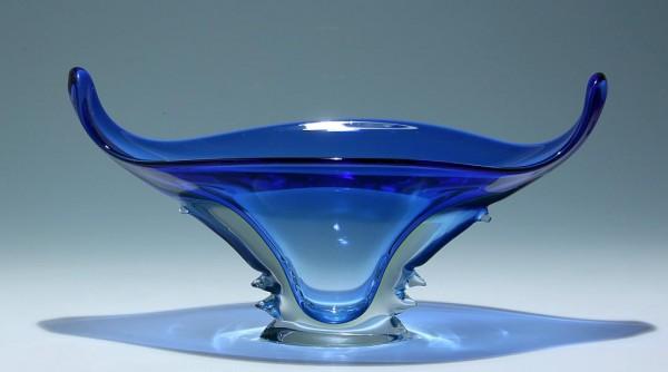 Große Murano Glasschale mit Uranglasinnenfang