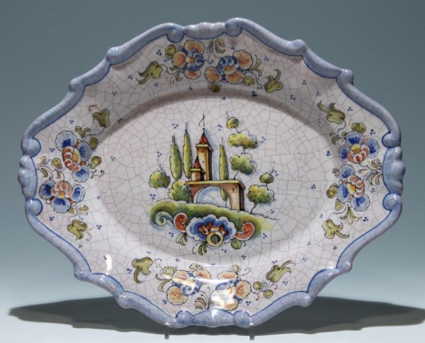 Majolika Wandteller - Lufeco - Spanien - 36,5 x 29 cm