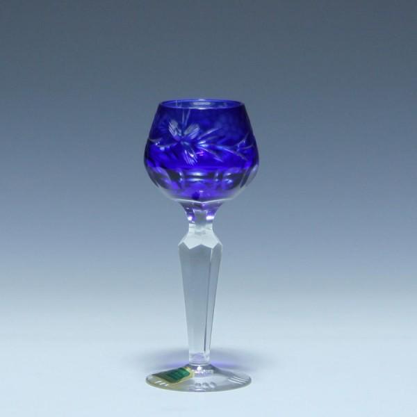 Überfanglikörglas 1008/8116 Lausitzer Glaswerke DDR- blau