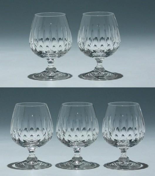 5 Schott Bleikristall Cognacgläser 1970er Jahre