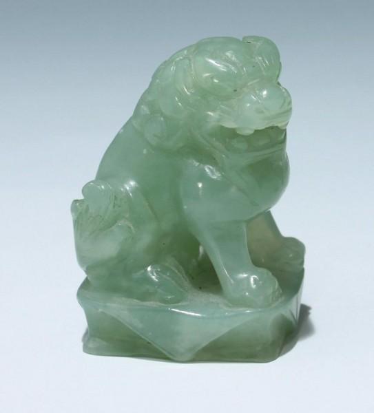 Vaseline Soapstone Carving - Foo Dog / Lion