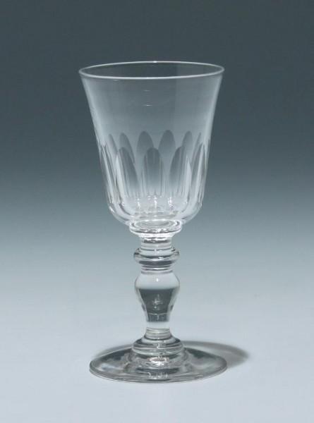 Bleikristall Kelchglas Frankreich 19. Jh. - Höhe 11,1 cm