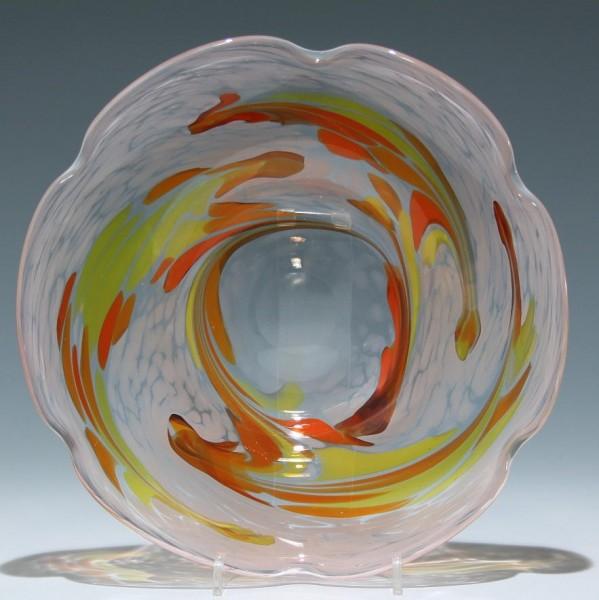 Moderne Überfangglasschale 1980er Jahre - 24,5 cm