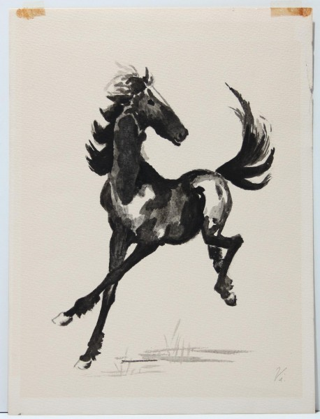 Chinesische Tuschezeichnung - Chinese Watercolor Horse