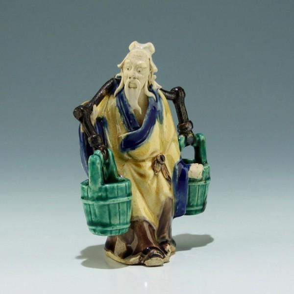 Chinese Sancai Glazed Mudman Figure - 20th. C.