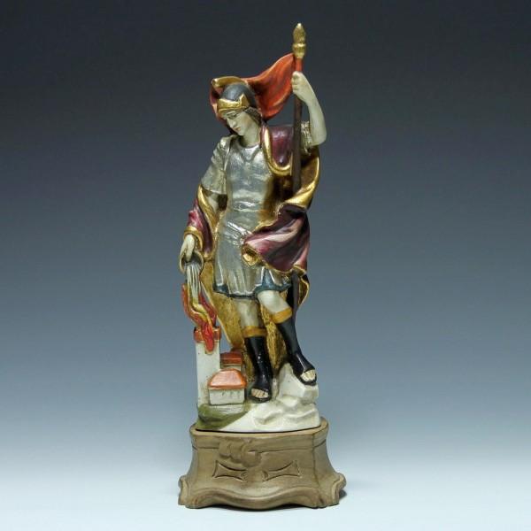 Geschnitzte Holzfigur HEILIGER FLORIAN - 33,7 cm