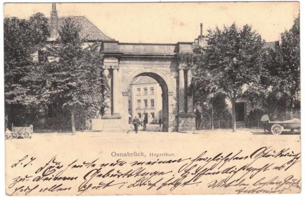 AK - OSNABRÜCK - Hegerthor - gelaufen 1903 #ak0158