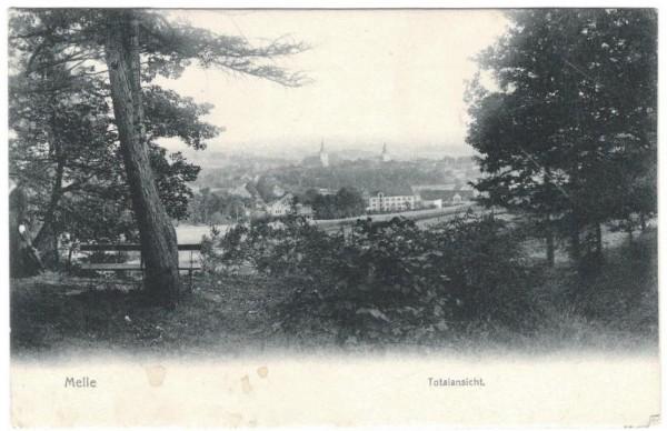 Ansichtskarte MELLE - TOTALANSICHT gelaufen 1912 #ak0084