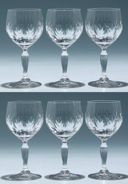 6 Kristallglas Klingenbrunn Weingläser ACHAT 15,3 cm